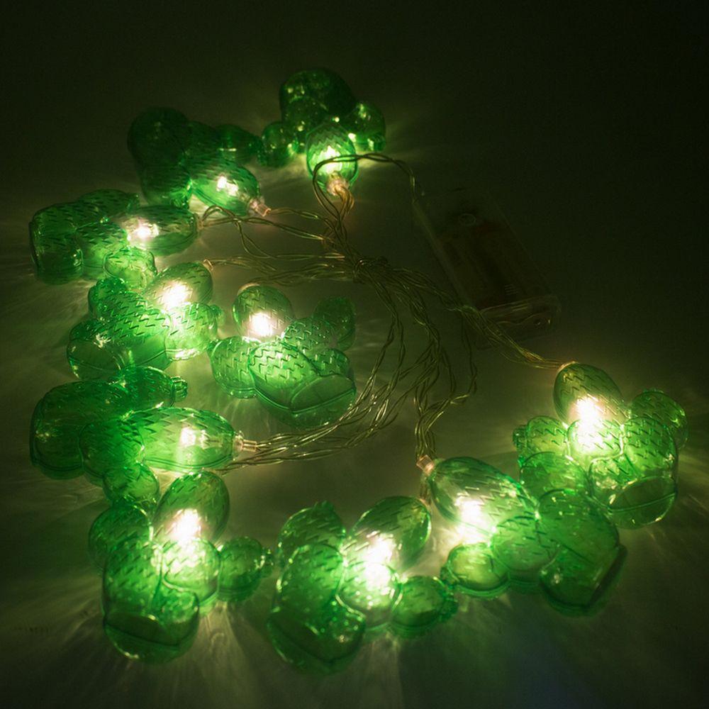 Cordão Luz de Led Cacto Rústico Verde 2m  - Shop Ud