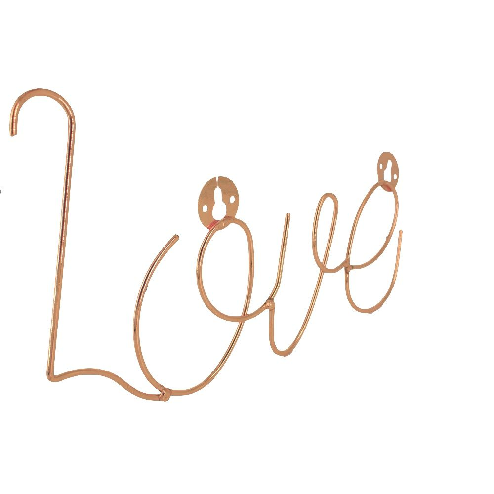Enfeite Decorativo em Metal - Rose Gold - LOVE  - Shop Ud