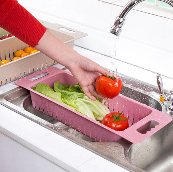 Escorredor dobrável para Frutas e Legumes - Rosa  - Shop Ud