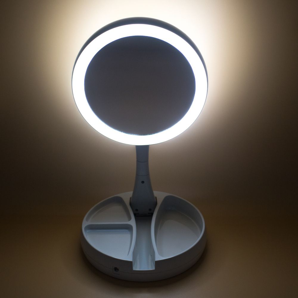 Espelho com luz de LED - Dobrável