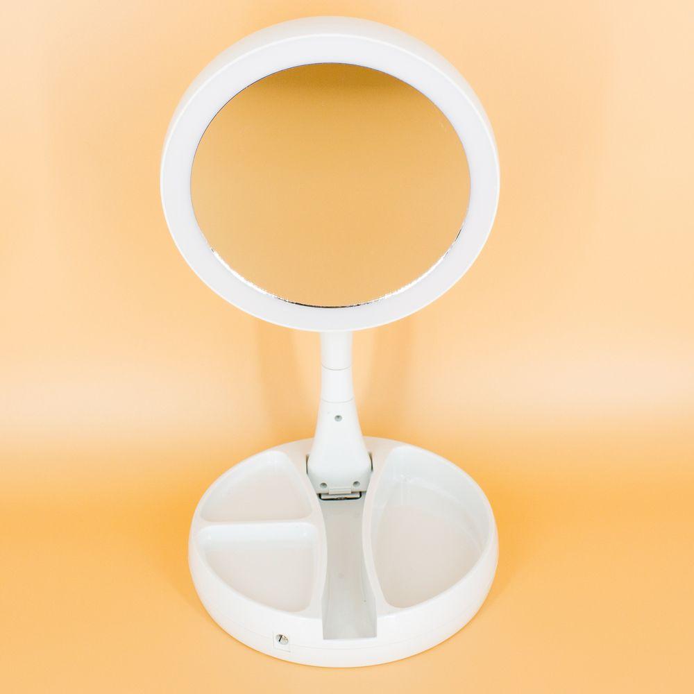 Espelho com luz de LED - Dobrável   - Shop Ud