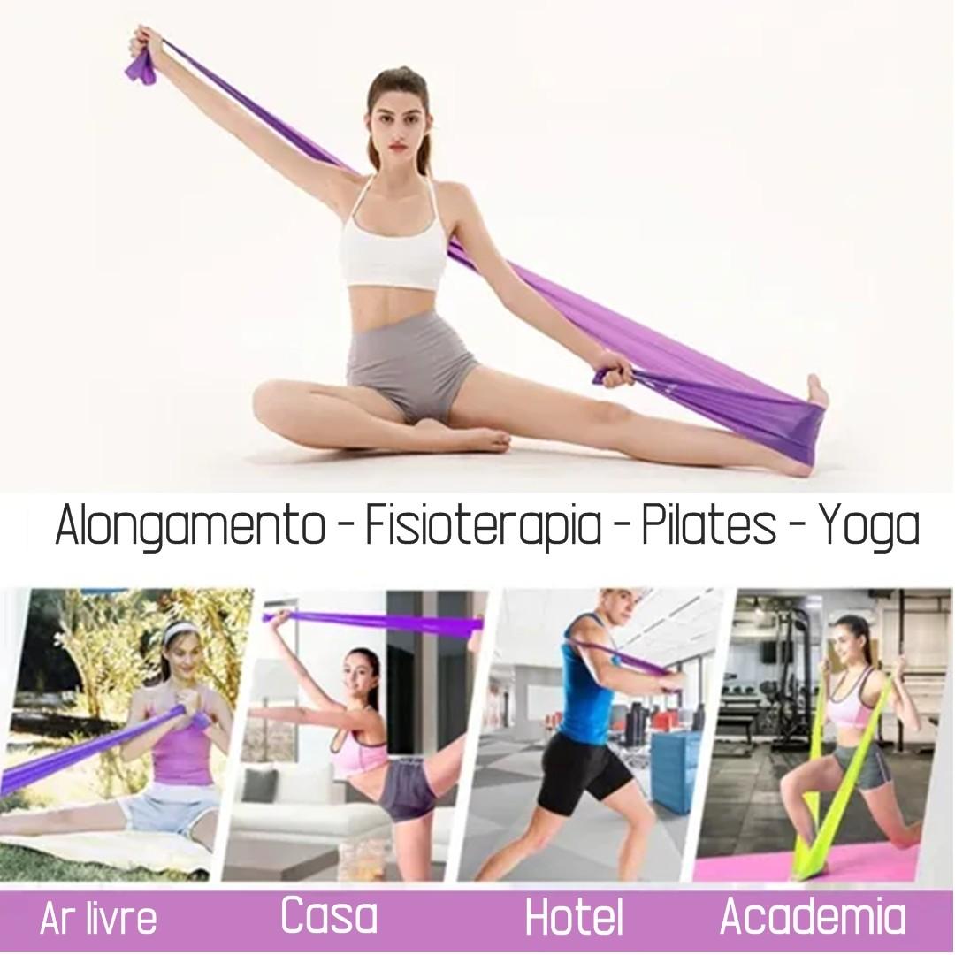 Faixa Elástica Fisio Pilates Yoga Mbfit Verde  - Shop Ud