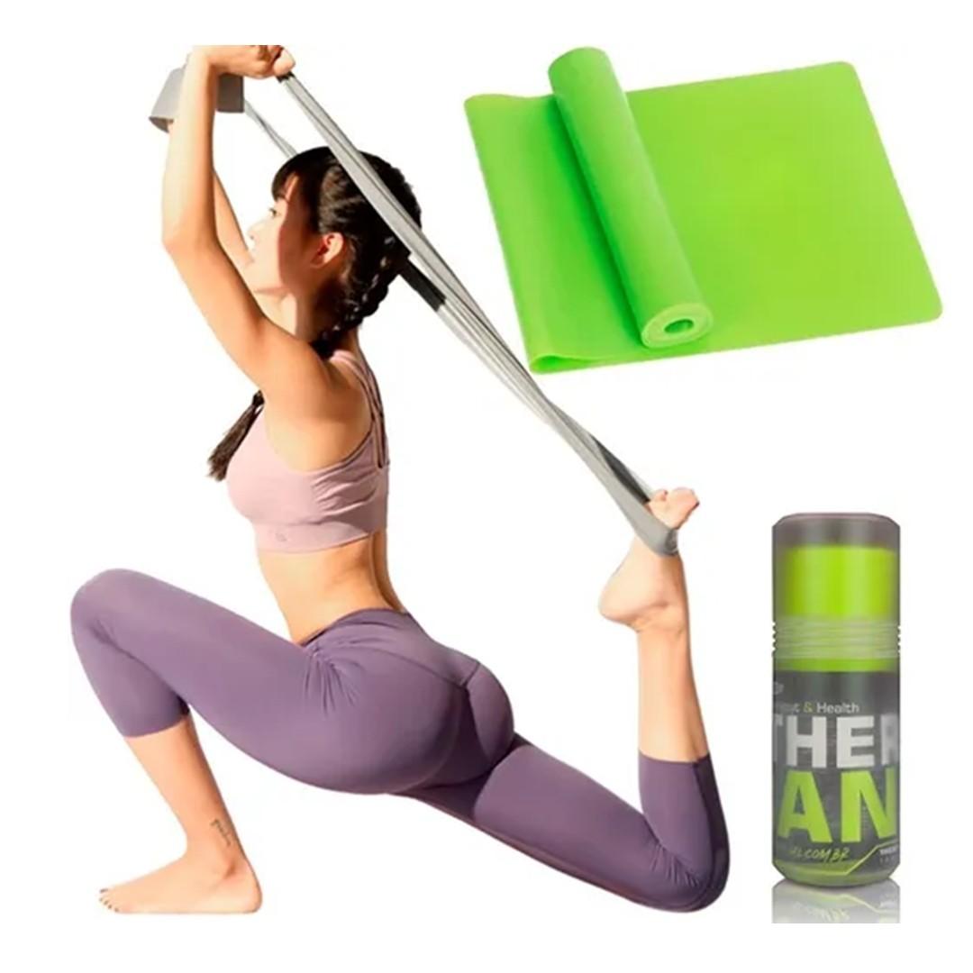 Faixa Elástica Fisio Pilates Yoga Mbfit Verde Neon  - Shop Ud