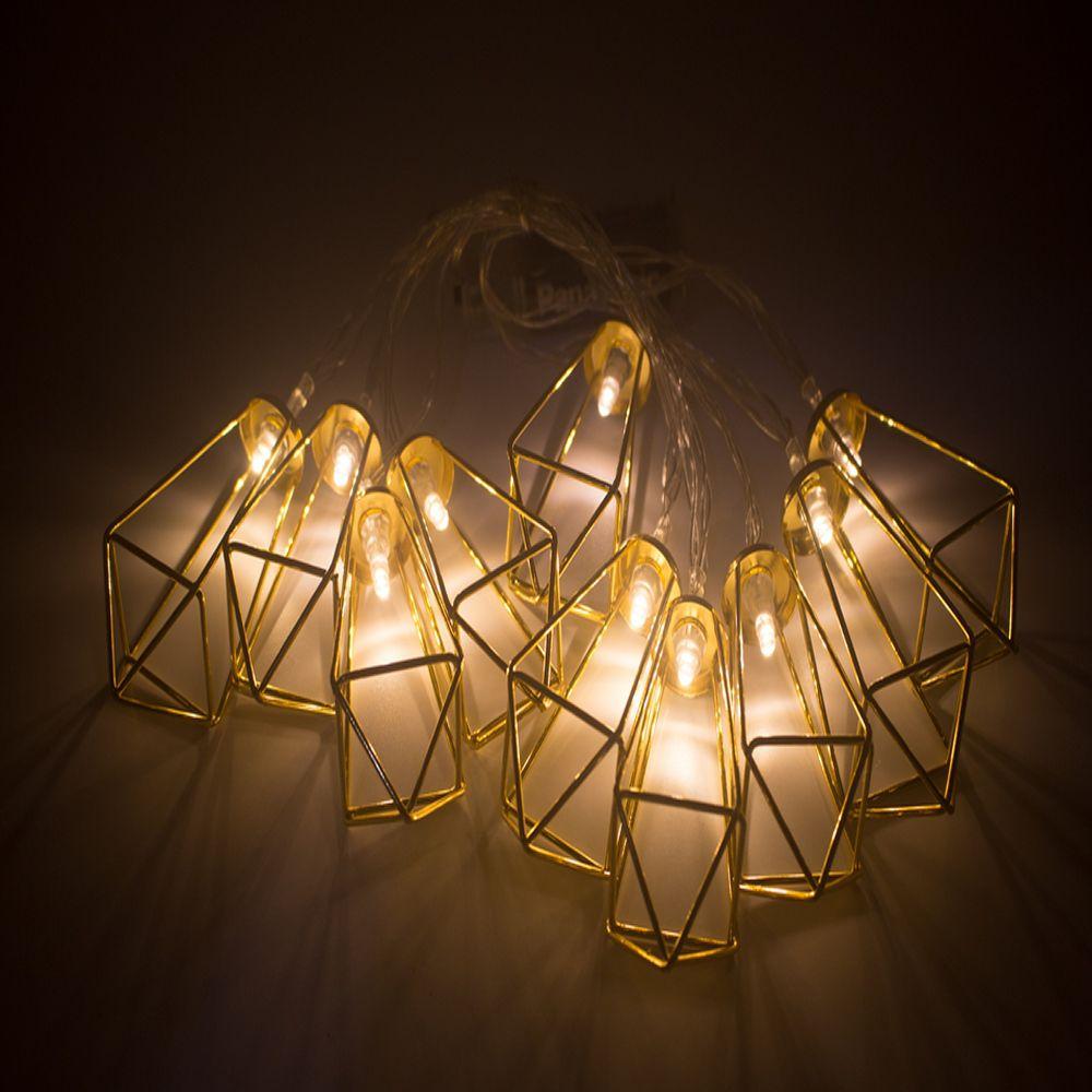 Fio de Fada Varal De Luz Led Geométrico 2 m Dourado  - Shop Ud