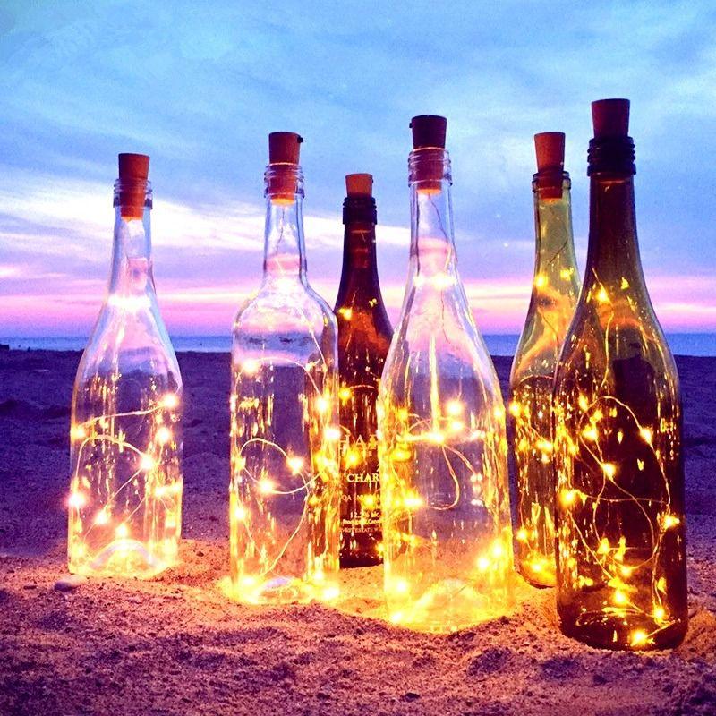 Fio Luz de Fada em Rolha de Garrafa 2 metros - Amarela  - Shop Ud