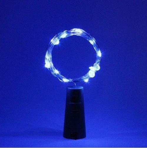 Fio Luz de Fada em Rolha de Garrafa 2 metros - Azul  - Shop Ud