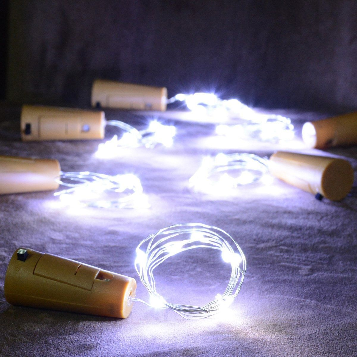 Fio Luz de Fada em Rolha de Garrafa 2 metros - Branca  - Shop Ud