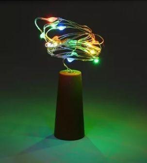 Fio Luz de Fada em Rolha de Garrafa 2 metros - Colorida  - Shop Ud