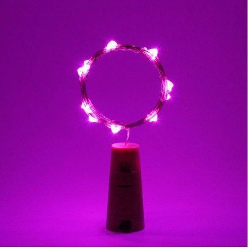 Fio Luz de Fada em Rolha de Garrafa 2 metros - Rosa  - Shop Ud