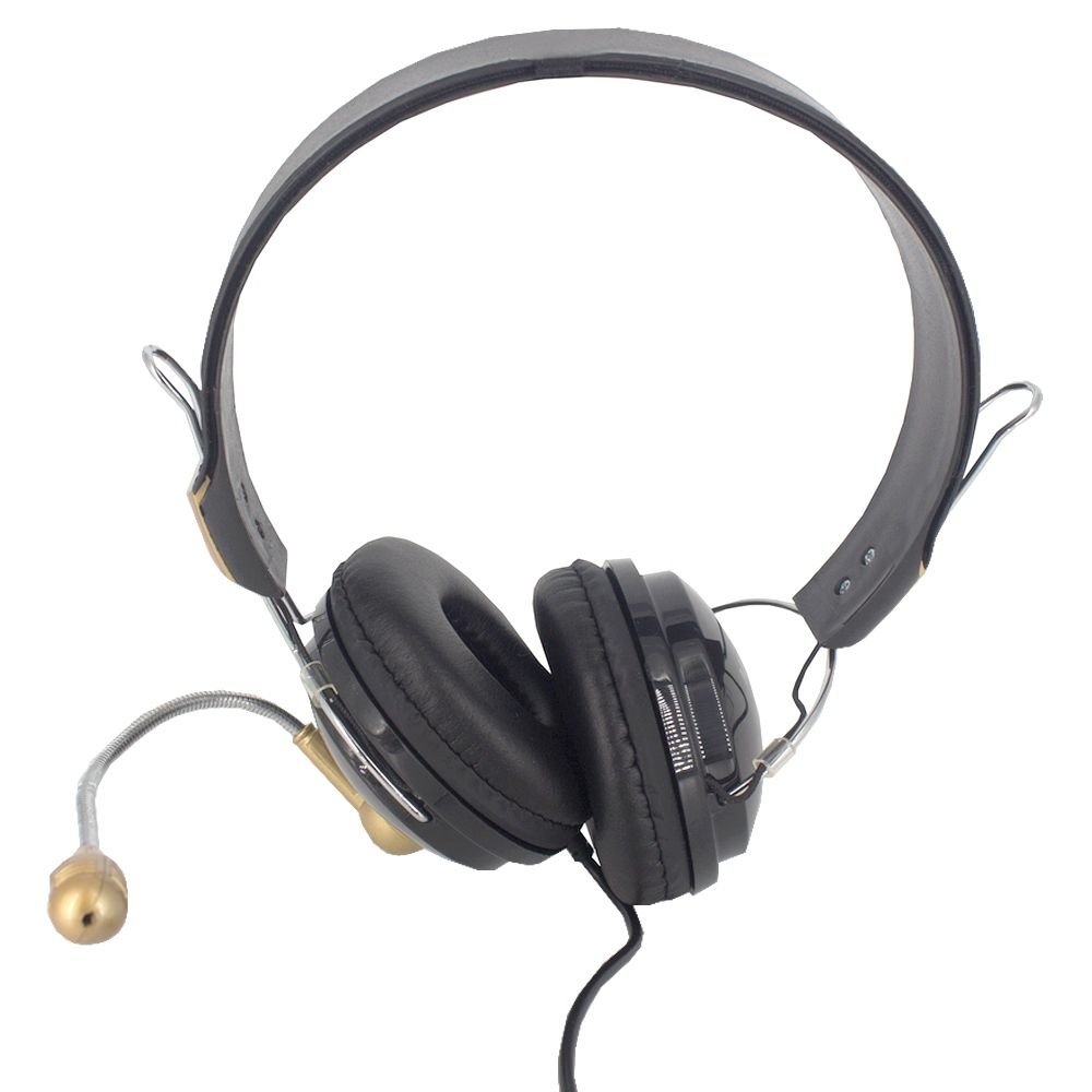 Fone de Ouvido com Microfone com 02 Entradas - Dourado  - Shop Ud