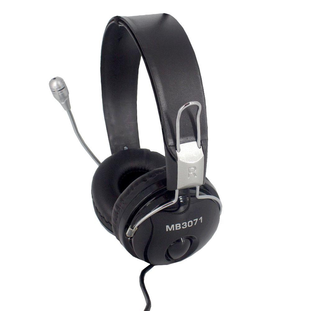 Fone de Ouvido com Microfone com 02 Entradas - Prata