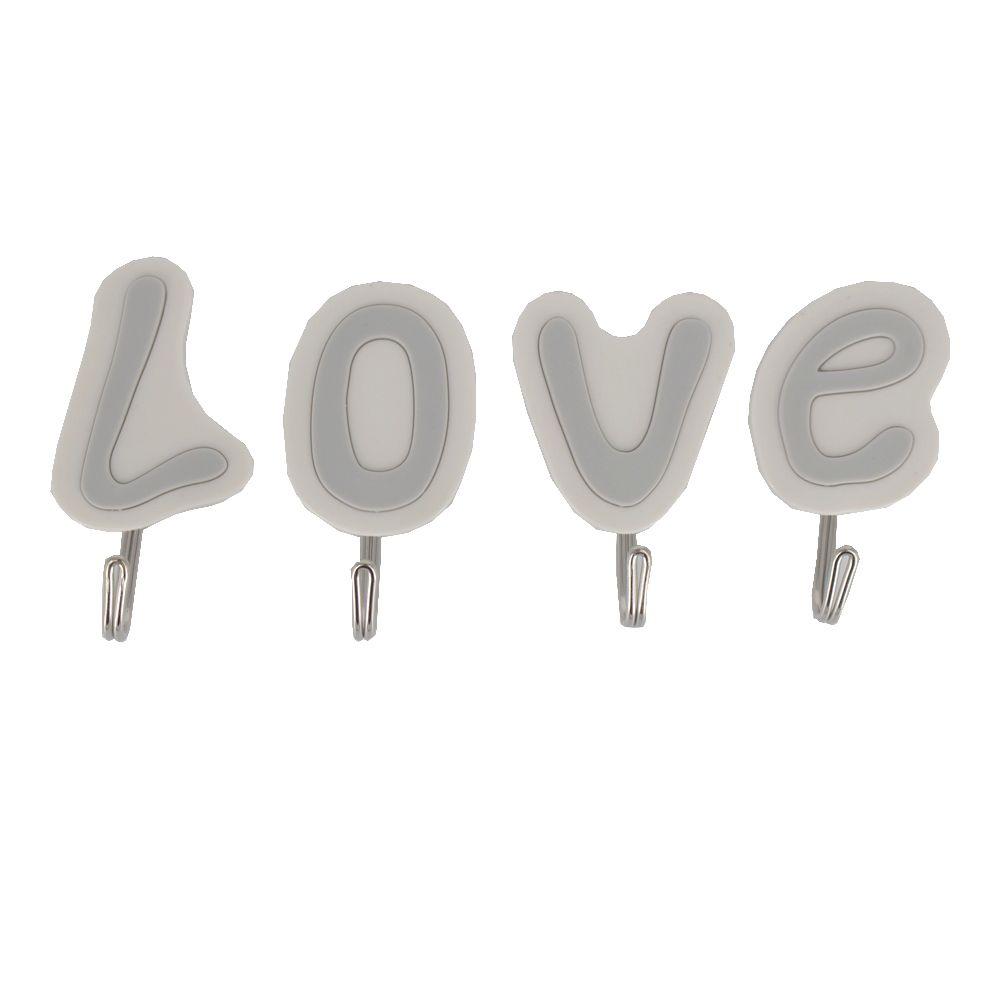 Gancho Adesivo de Plástico - LOVE  - Shop Ud