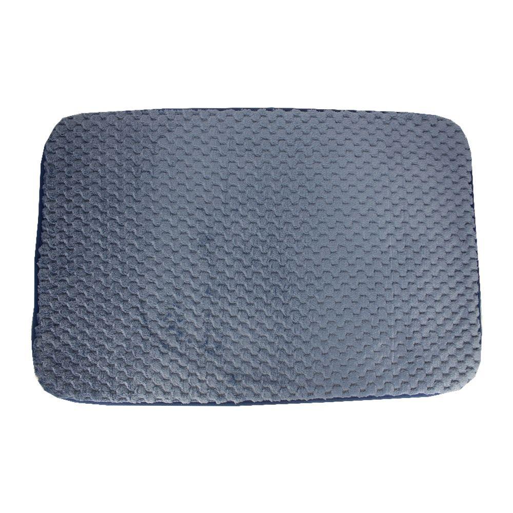 Jogo 03 Tapetes para Banheiro Riscadinho - Azul  - Shop Ud