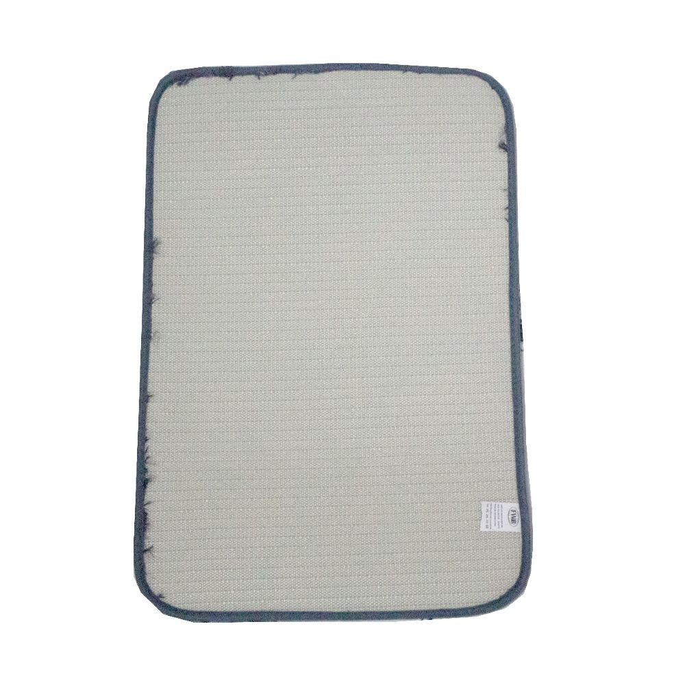 Kit 03 Tapetes para Banheiro Felpudo Azul Marinho com Branco  - Shop Ud