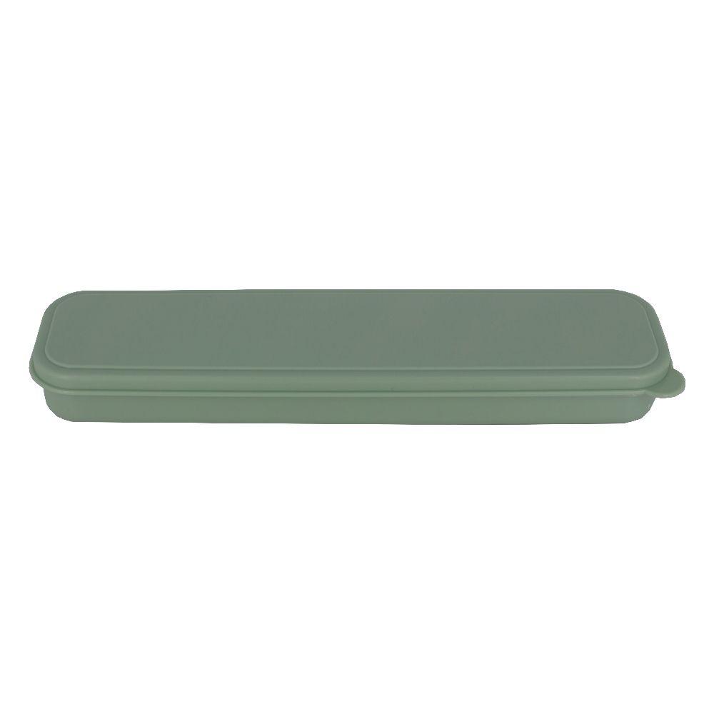 Kit 02 Canudos De Inox, 01 Colher Bailarina e 01 Escovinha Higienizadora com Estojo - Verde Claro  - Shop Ud