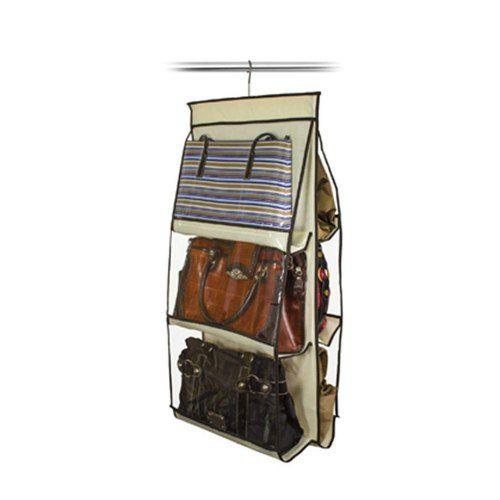 Kit 10 Organizador de Bolsas VB Home para Cabide Marfim
