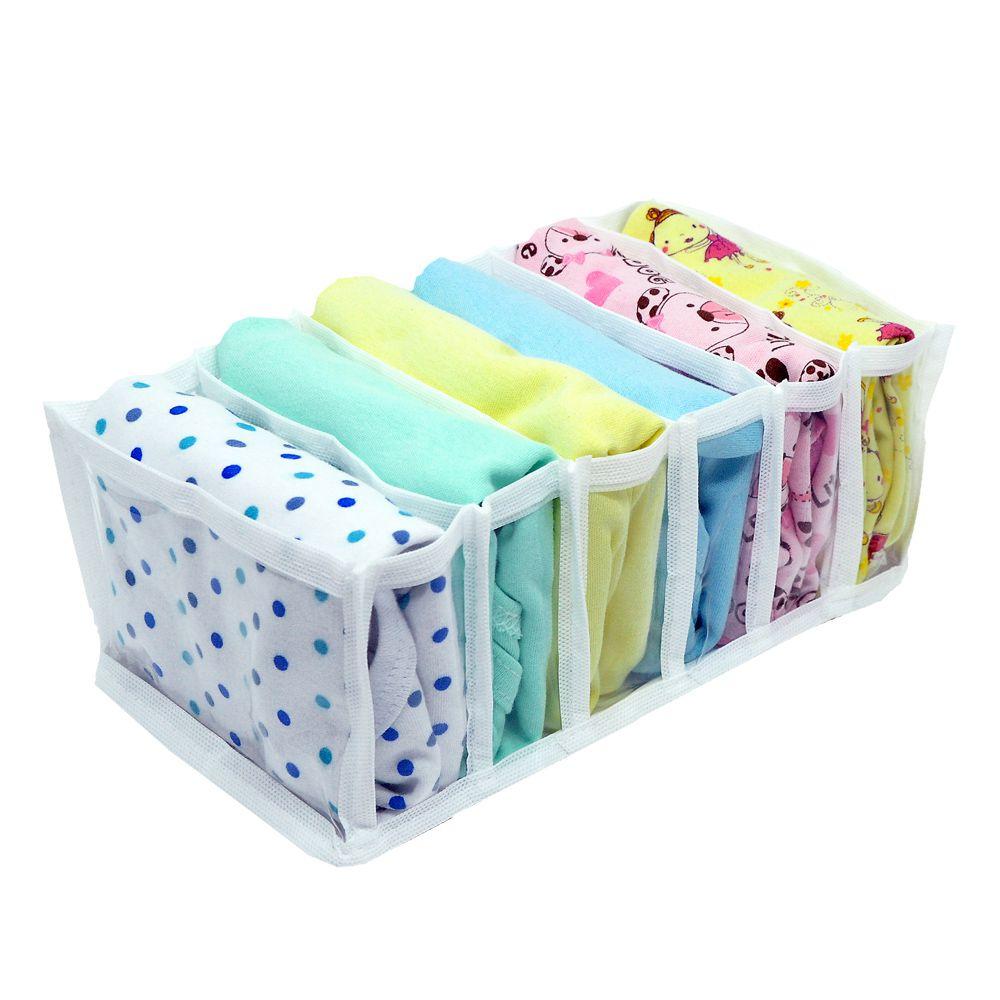 Kit 10 Organizadores para Biquinis, Sungas, Bodys de Bebê Tranp Branco  - Shop Ud