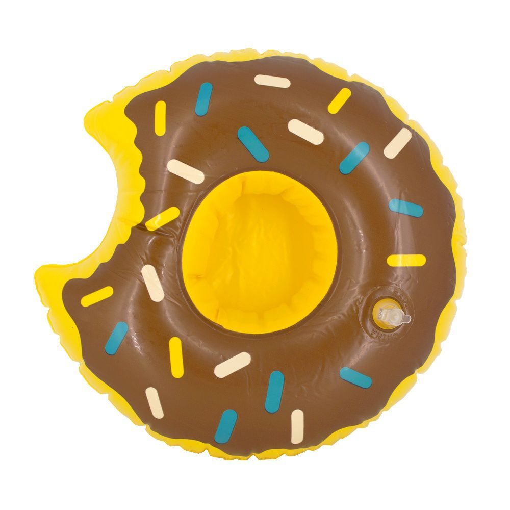 Kit 15 Boias Porta Copo Inflável - Rosquinha Donut Chocolate  - Shop Ud