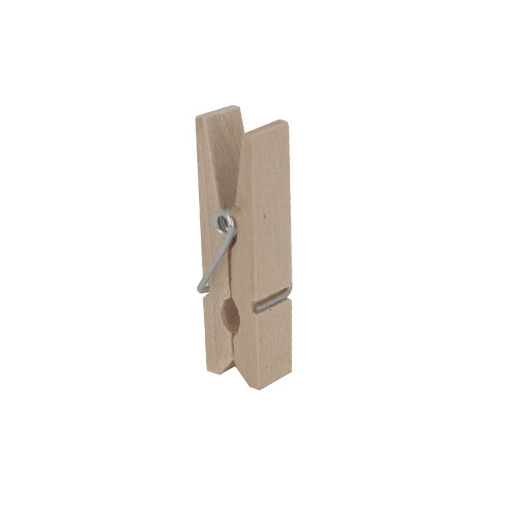 Kit 30 Mini Prendedores - Madeira - 03cm  - Shop Ud