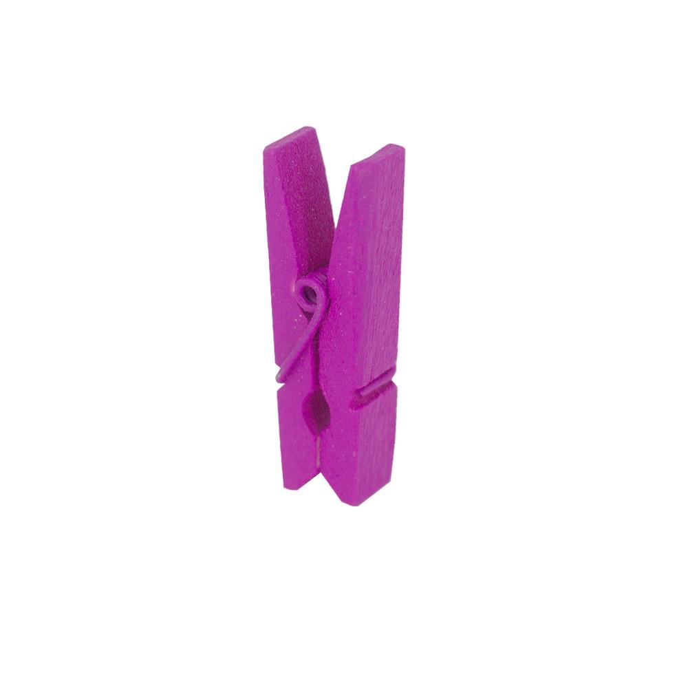 Kit 30 Mini Prendedores - Magenta - 03cm  - Shop Ud