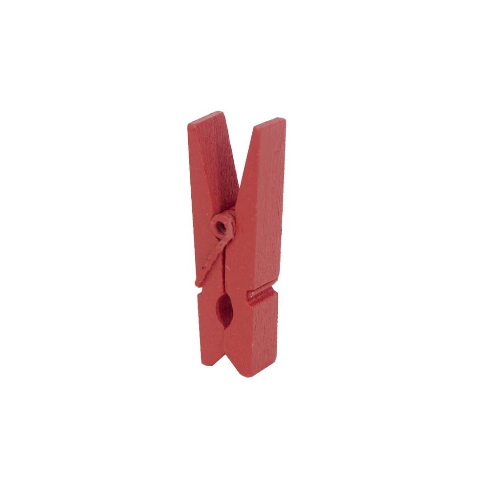 Kit 30 Mini Prendedores - Vermelho - 03cm  - Shop Ud
