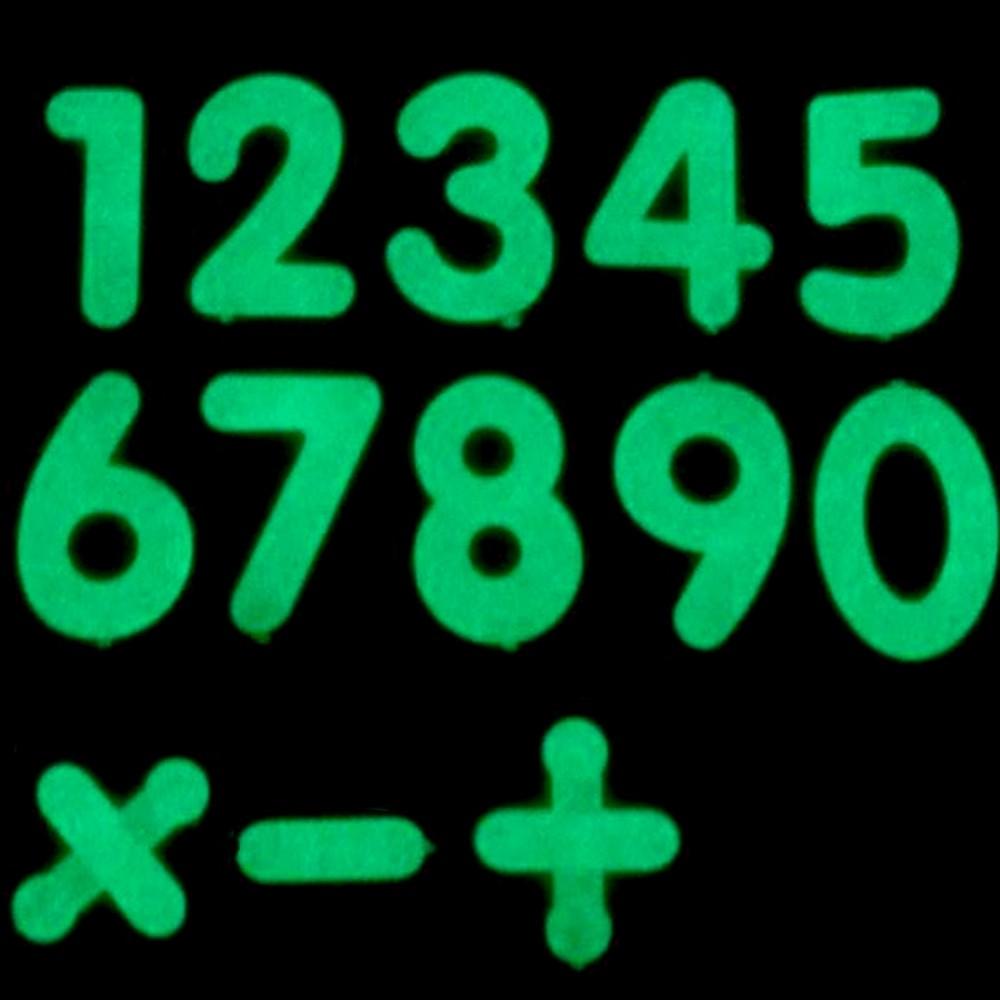 Kit 40 Adesivos Que Brilham No Escuro Números Simbolos Mat. Rosa  - Shop Ud
