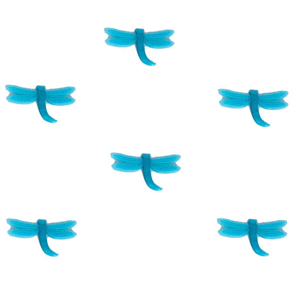 Kit com 06 Adesivos que brilham no Escuro - Libélula Azul
