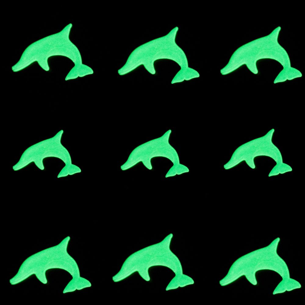 Kit com 09 Adesivos que brilham no Escuro - Golfinho Verde  - Shop Ud