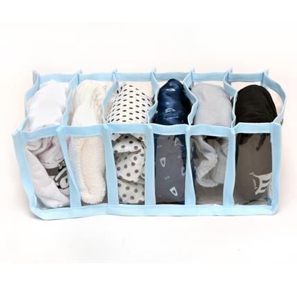 Kit 10 Organizadores para Biquinis, Sungas, Bodys Bebê - Azul  - Shop Ud