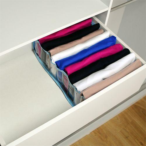 Kit com 10 Colmeia Organizadora Para Camisetas - Azul  - Shop Ud