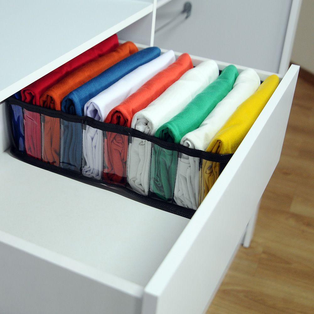 Kit com 10 Colmeia Organizadora para Camisetas - Preta  - Shop Ud