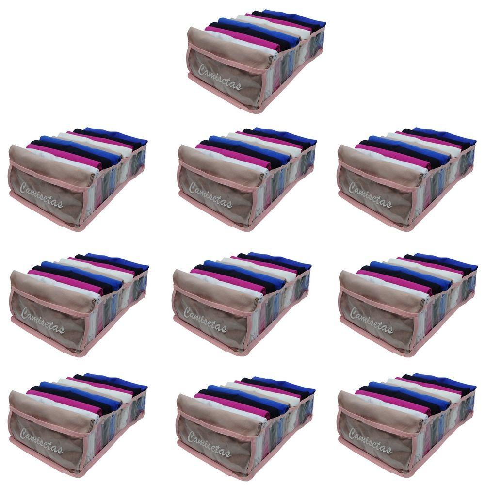 Kit com 10 Colmeia Organizadora Para Camisetas - Rosa
