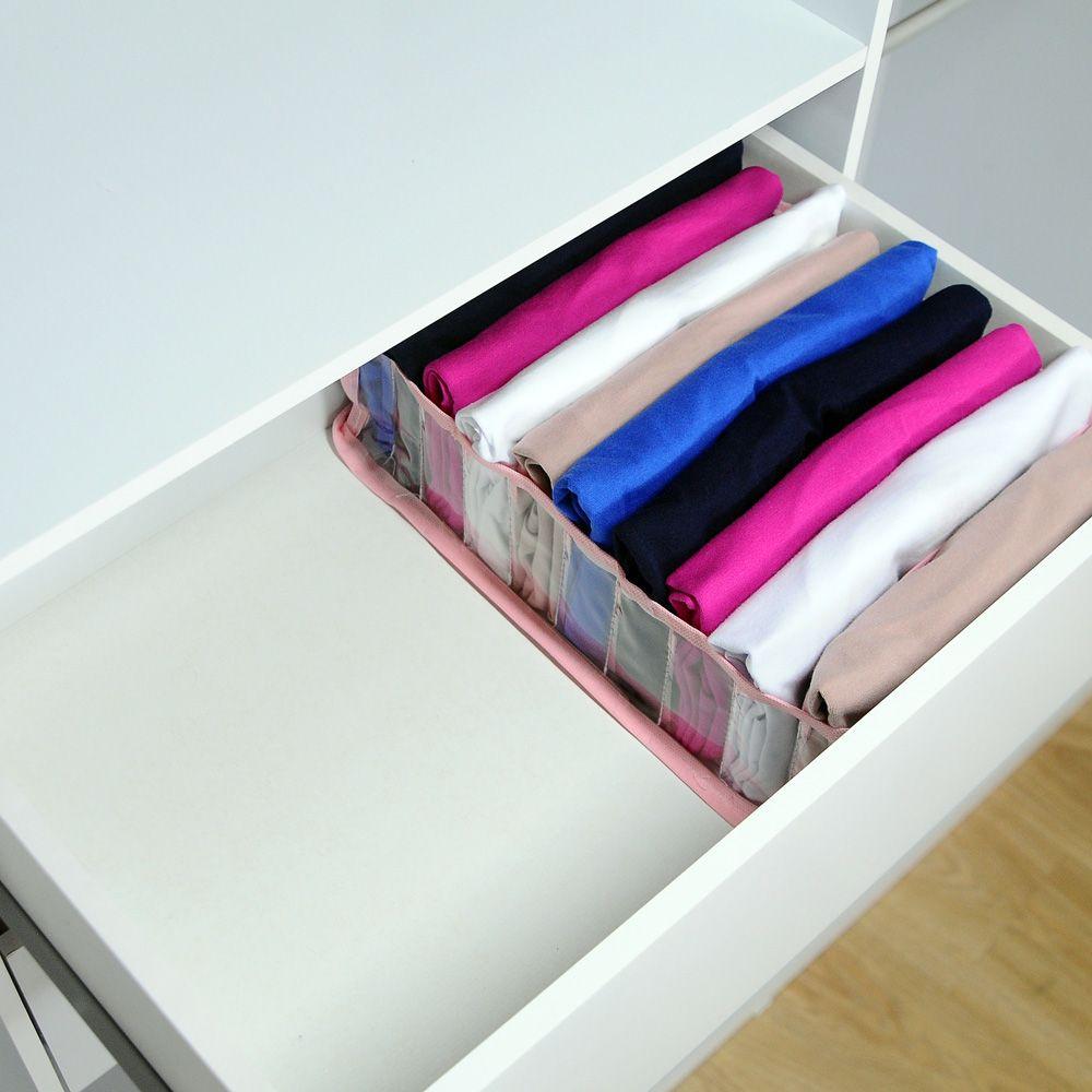 Kit com 10 Colmeia Organizadora Para Camisetas - Rosa  - Shop Ud