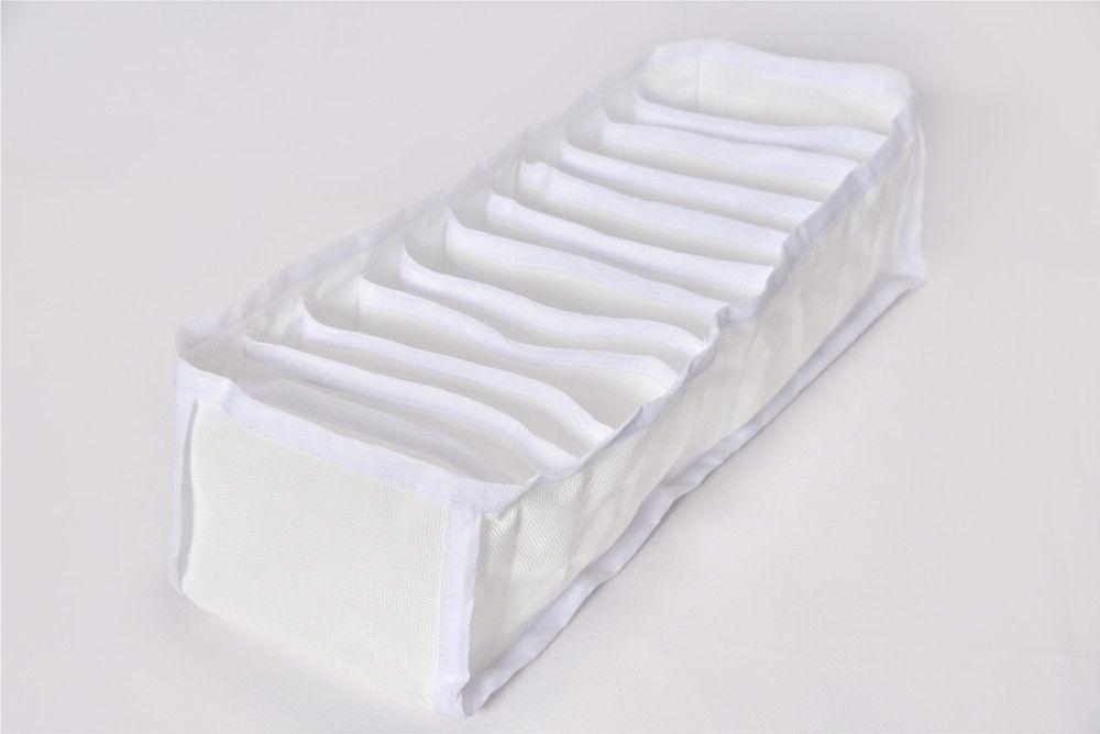 Kit com 10 Organizador de Gaveta para Calcinhas, Meias, Cuecas em TNT Branco  - Shop Ud