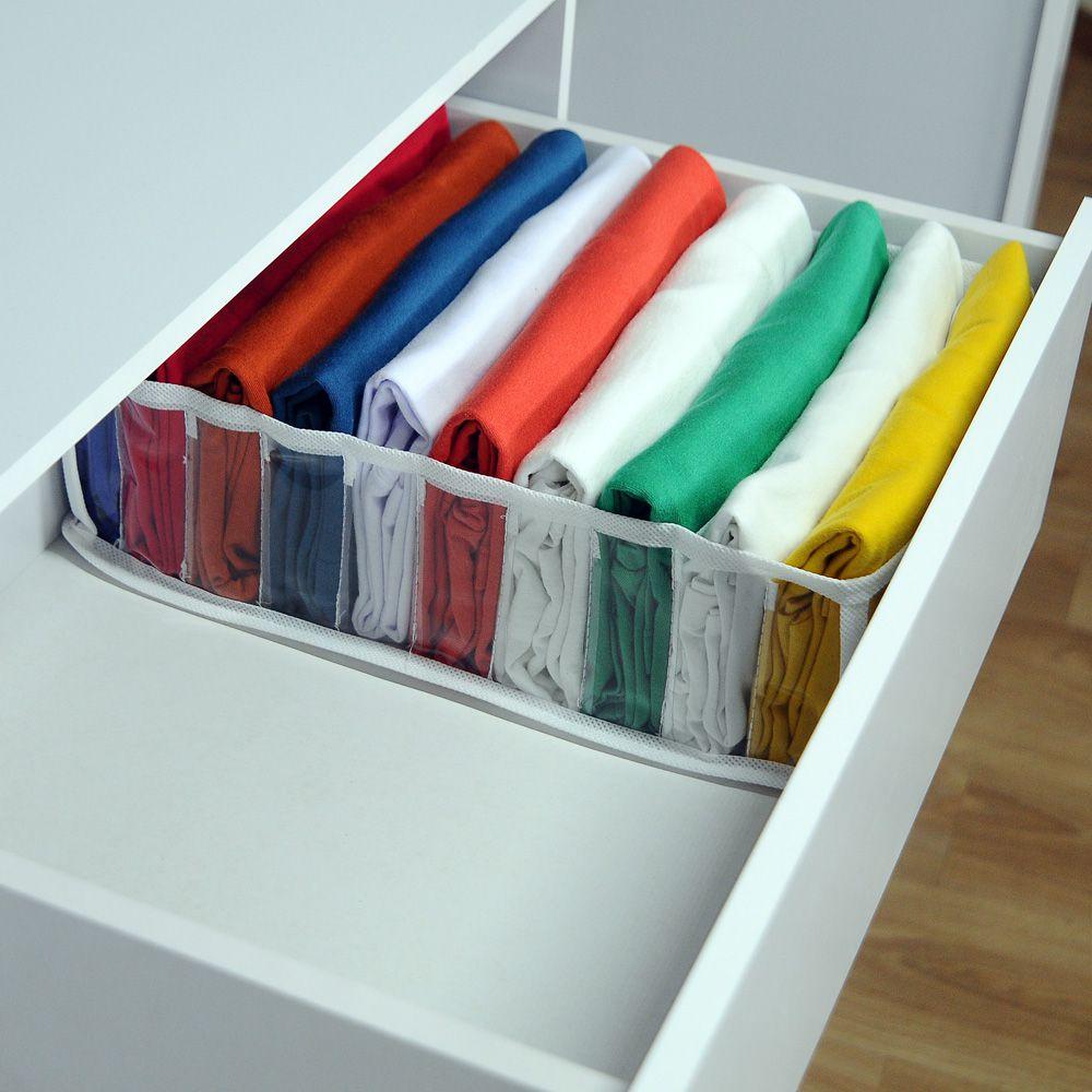 Kit com 10 Organizadores de Camisetas Branco  - Shop Ud