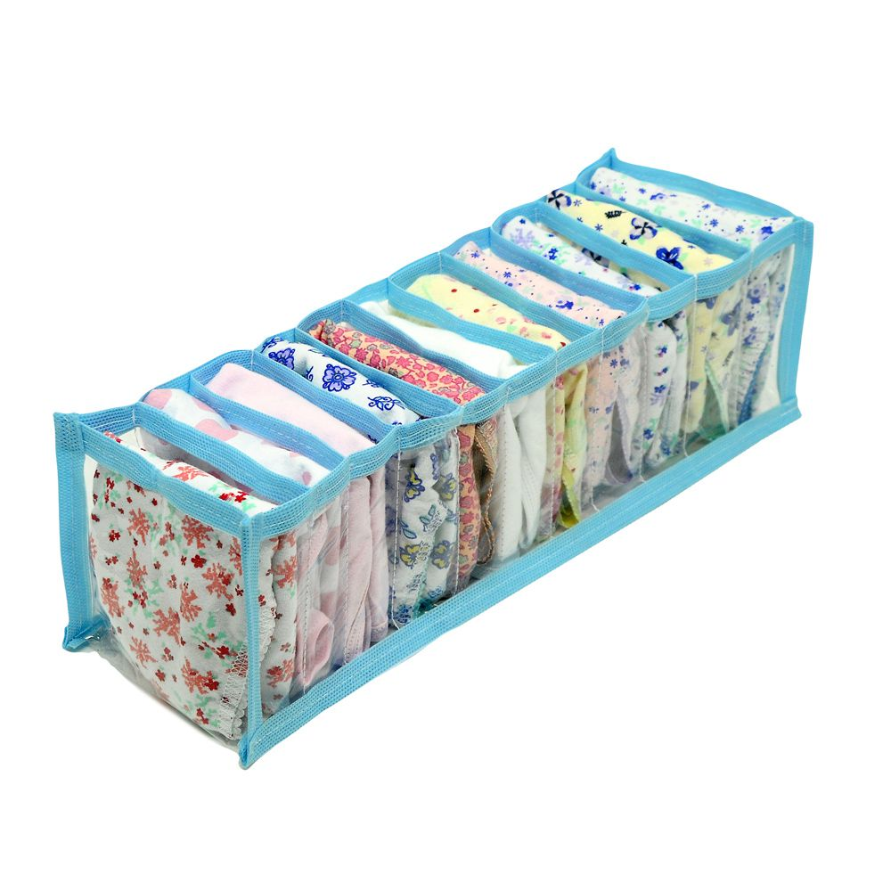 Kit 10 Organizadores de Gavetas calcinhas, meias, cuecas- Azul  - Shop Ud