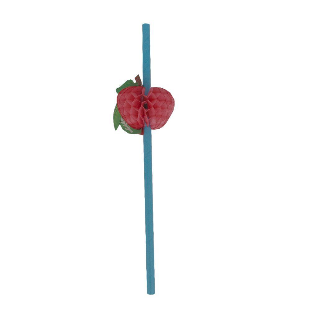 Kit com 12 Canudos de Papel Decorativo - Maça  - Shop Ud