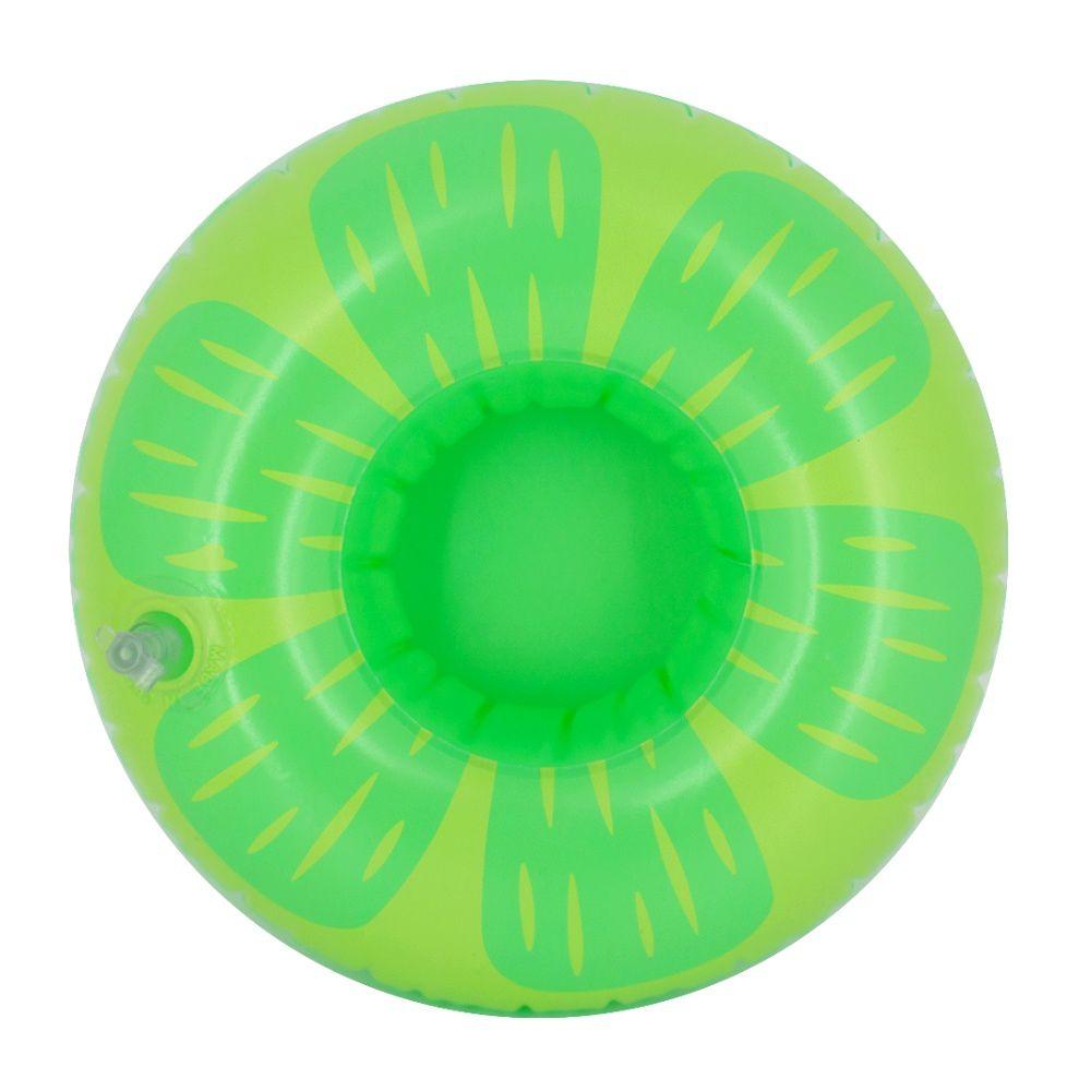 Kit com 15 Porta Copo Boia Inflável - limão Verde