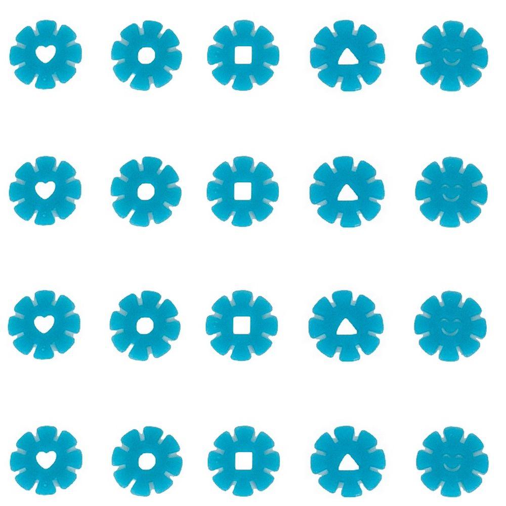 Kit com 20 Adesivos que brilham no Escuro - Flor Azul