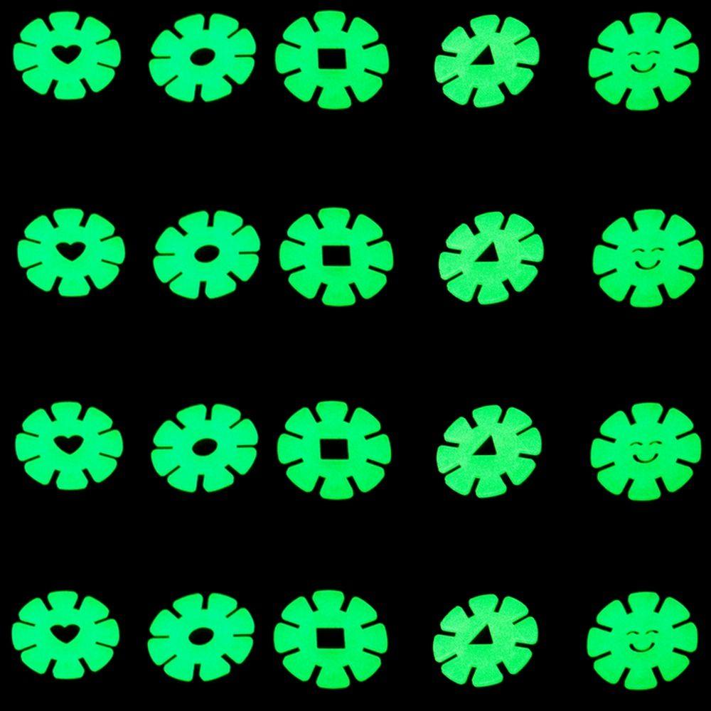 Kit com 20 Adesivos que brilham no Escuro - Flor Azul  - Shop Ud