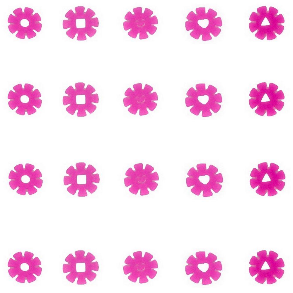 Kit com 20 Adesivos que brilham no Escuro - Flor Rosa