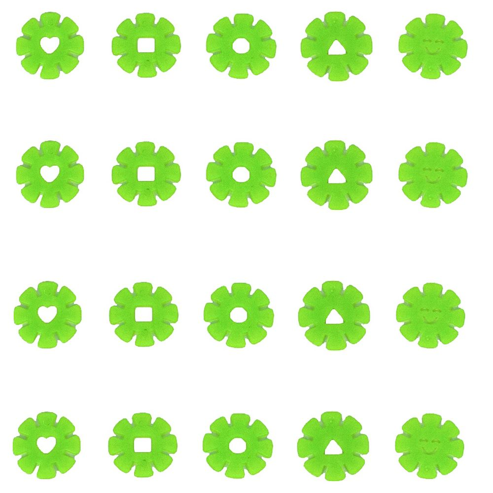Kit com 20 Adesivos que brilham no Escuro - Flor Verde