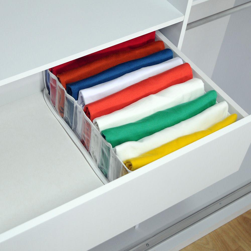 Kit com 20 Organizadores de Camisetas Branco  - Shop Ud