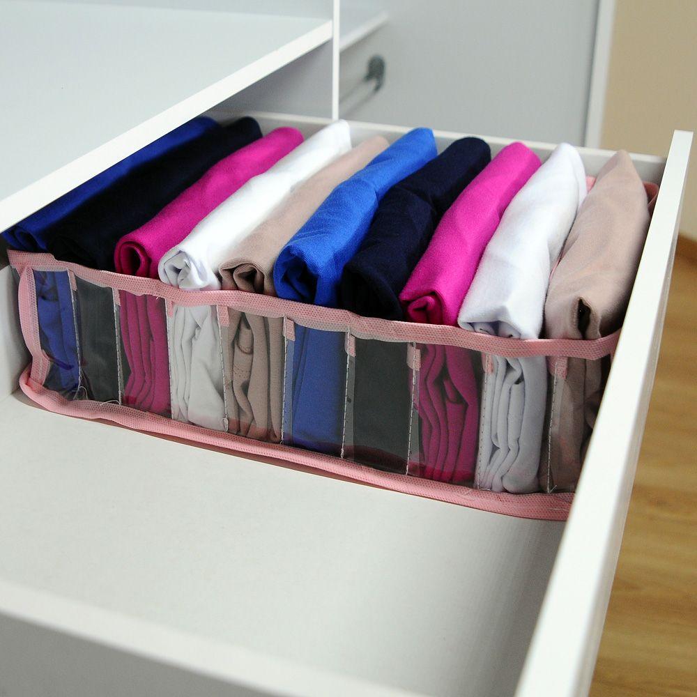 Kit com 20 Organizadores de Camisetas Rosa  - Shop Ud