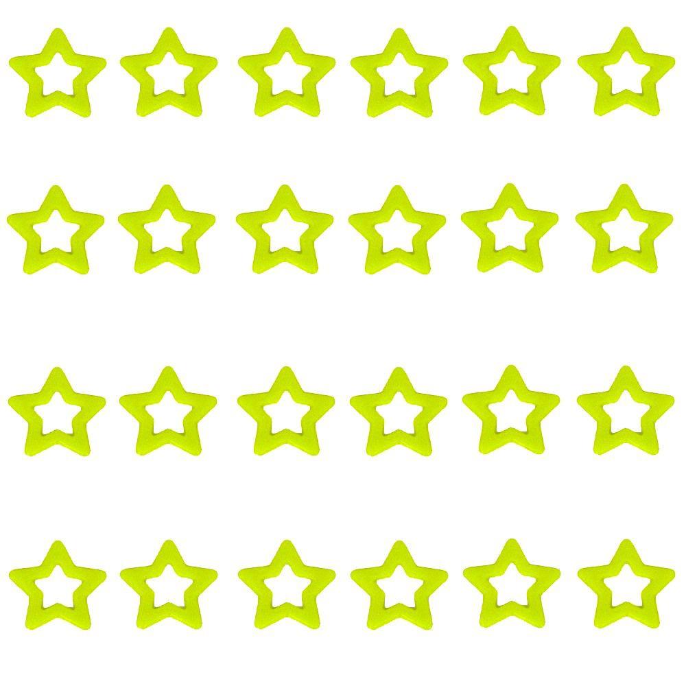 Kit com 24 Adesivos que brilham no Escuro - Estrela Verde Fluorescente