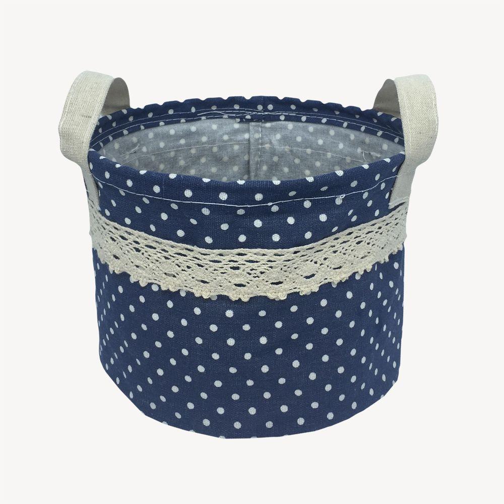 Kit com 3 Cestos Organizadores Azul Marinho com Sustentação  - Shop Ud