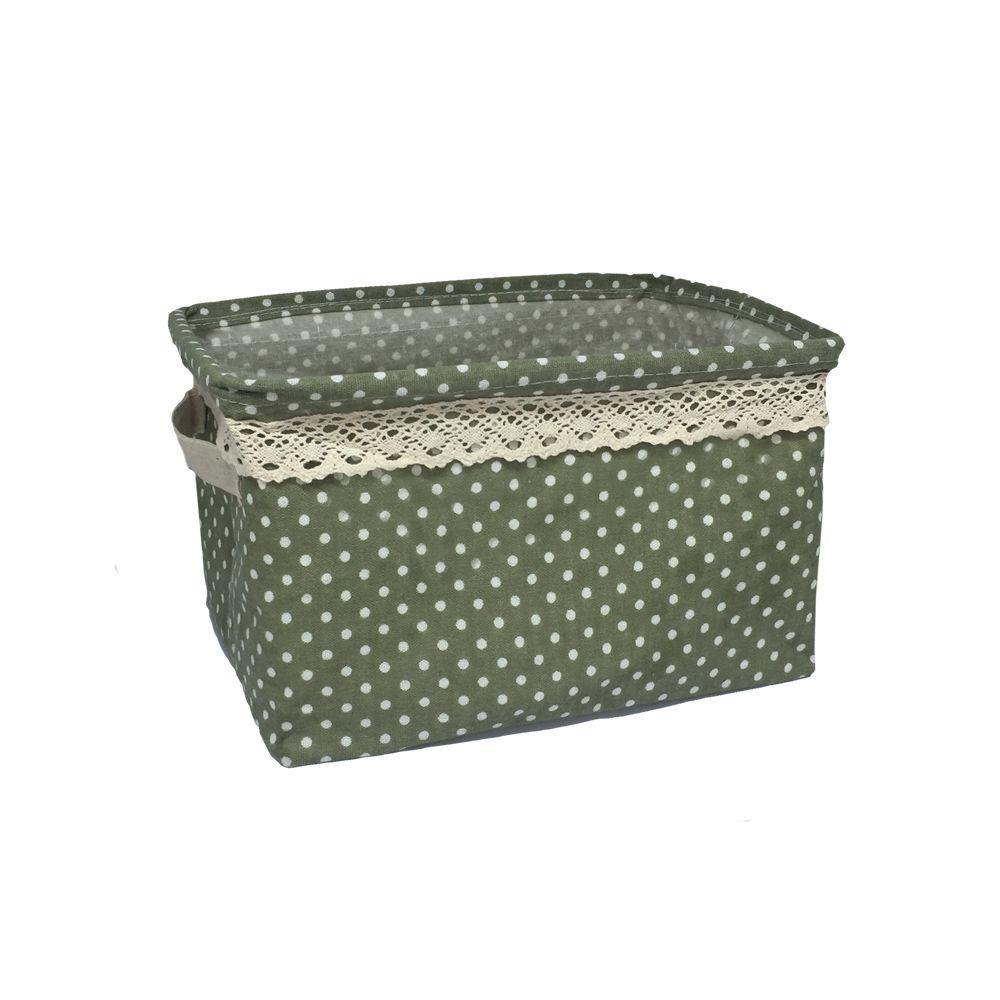 Kit com 3 Cestos Organizadores Verde com Sustentação  - Shop Ud