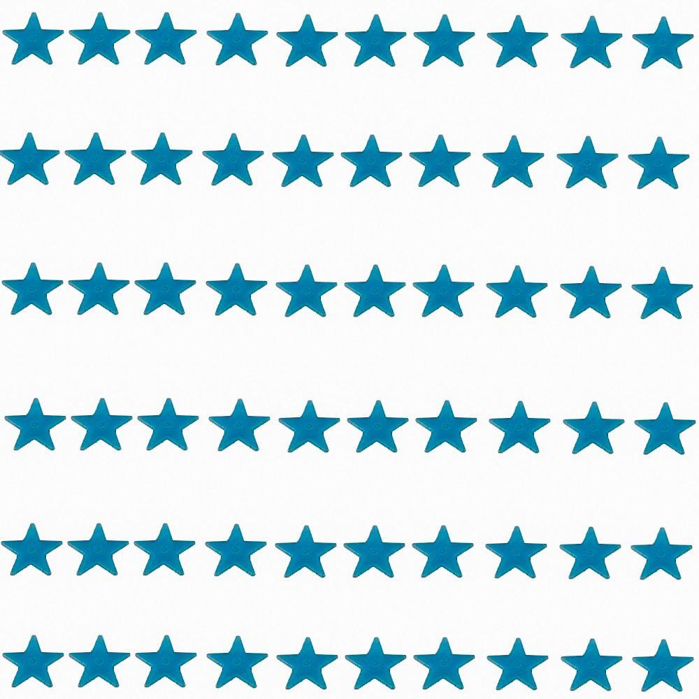 Kit com 60 Adesivos que brilham no Escuro - Estrela Azul