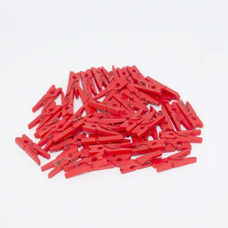 Kit 50 Mini Prendedores - Vermelho