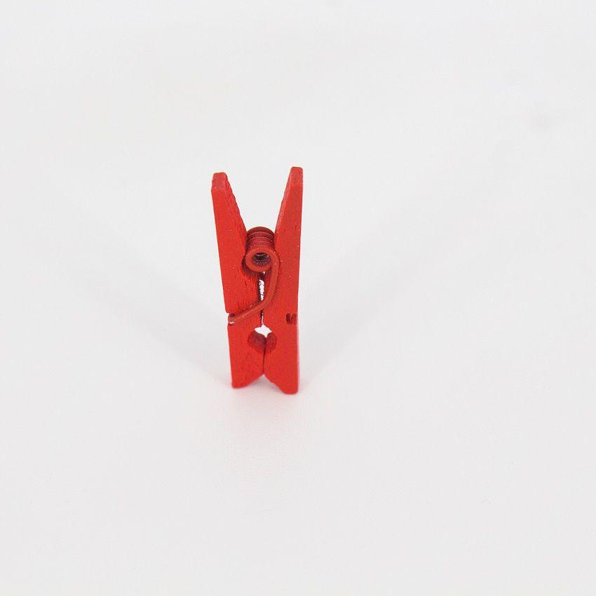 Kit 50 Mini Prendedores - Vermelho  - Shop Ud
